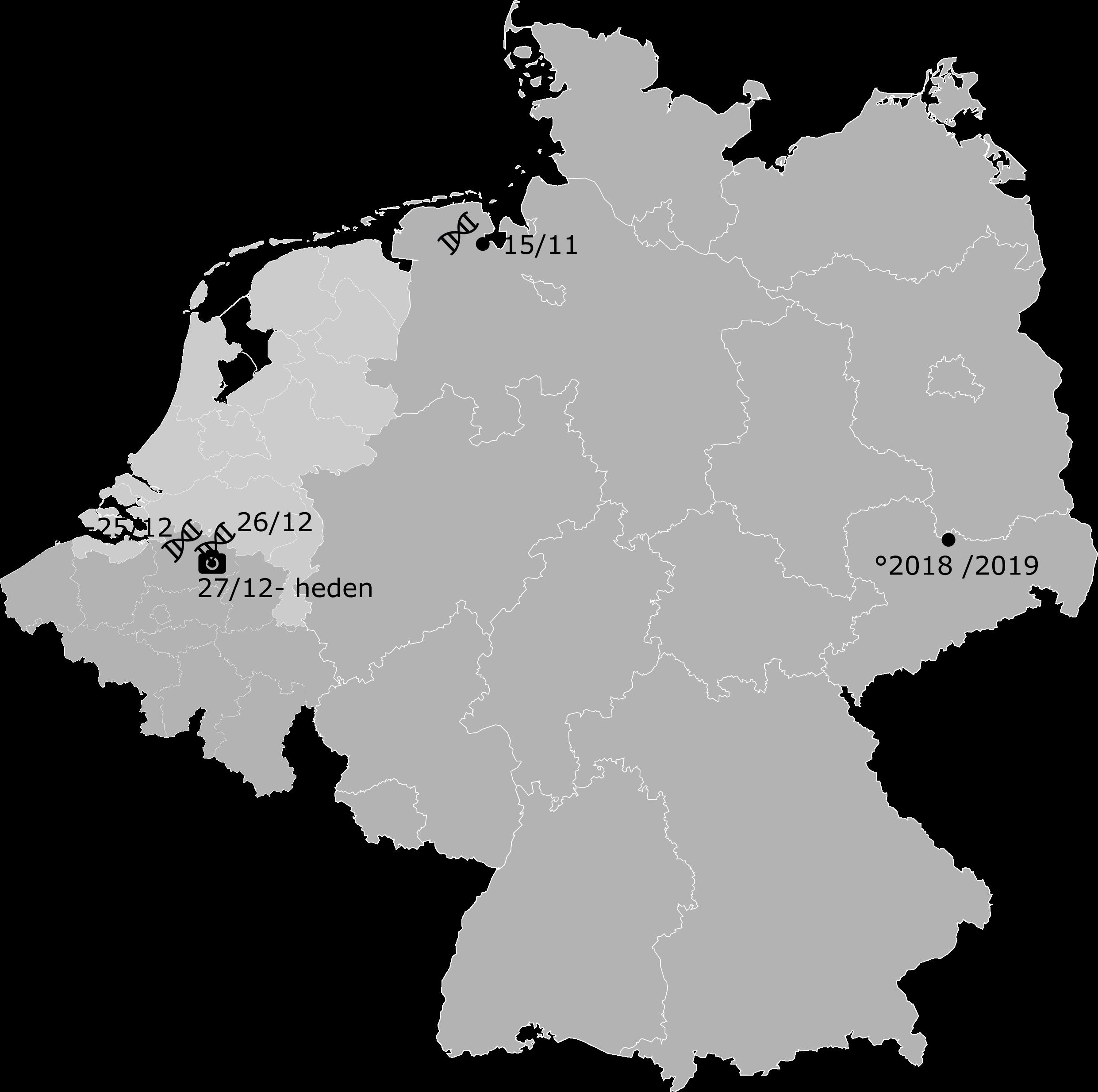 kaartje Duitsland-Vlaanderen