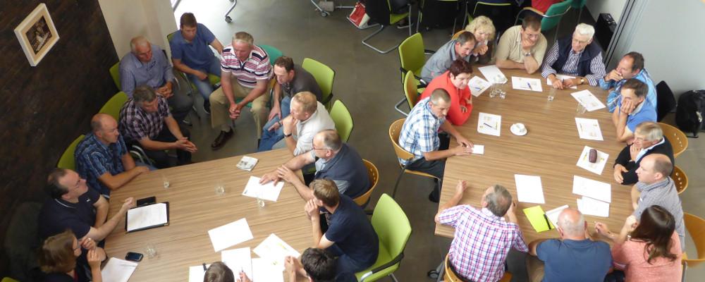 Deelnemers aan een workshop