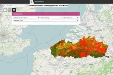user interafce interactieve kaart ecosysteemdiensten Vlaanderen