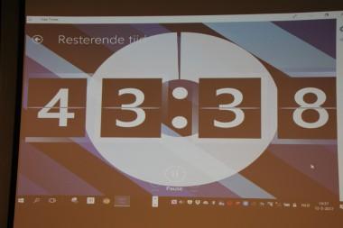 foto timer bij interactieve sessie